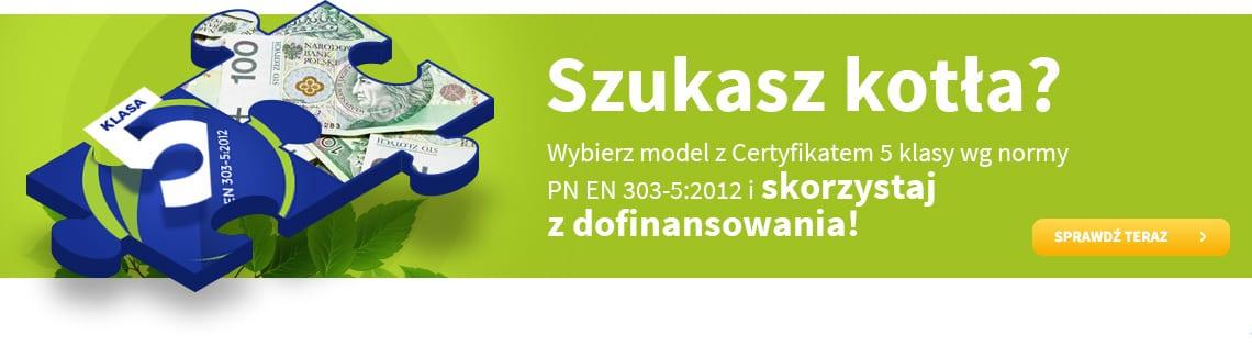 Instrukcja jak pozyskać dofinansowanie zakupu kotła 5 klasy. Dotyczy kotłów Carbo 5, Pelwo 5 i Klaster 5 produkowanych przez Kotły Woźniak.